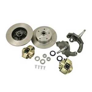 Front Brake Disc Conversion Kit Beetle 8/65- With Dropped Spindles 5x205 Stud Pattern