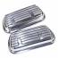 Alluminium Finned Clip On Rocker Covers Pair Complete