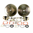 Empi Rear Brake Disc Conversion Kit Complete Beetle 5 Stud 1973 Onwards Swingaxle And IRS 5x205