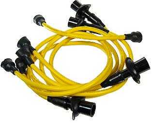 Ignition Lead Set Cal Look In Yellow