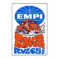 "Retro Aircooled Empi Power Rules Sticker 4"" x 2.75"""
