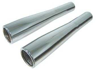 Taper Tips Tail Pipes In Stainless Steel Big Bore