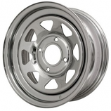"Chrome 8 Spoke Wheel 4x130 15"" For Buggy Etc Choose Size"