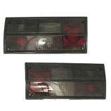 Pair Of Smoked Rear Tail Lights Type 25 1980-1991 To Replace Hella Lamps