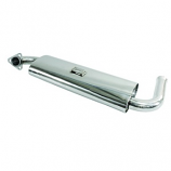 Stainless Steel Single Quiet Pack Silencer 1300-1600cc Beetle and Camper