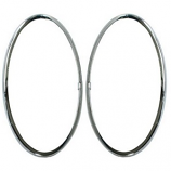 Rear Lamp Lens Chrome Trim And Seals Beetle 62-67 PAIR
