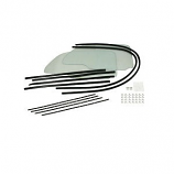 Cal Look 1 Piece Window Kit Clear
