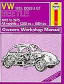 Haynes Workshop Manual Beetle 1303 1303s GT