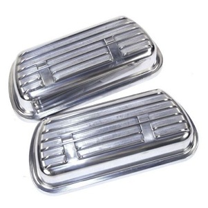 Alluminium Finned Clip On Rocker Covers Pair Complete