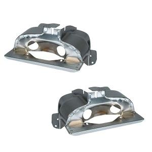 Chrome Cylinder Head Shrouds Twin Port