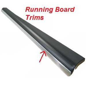 Beetle Running Board Trims Chrome or Black