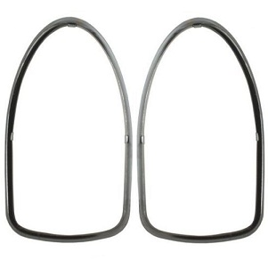 Rear Lamp Lens Chrome Trim Rings Pair Beetle 68-73