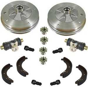 Rear Brake Drums Overhall Kit Beetle 58-64 Shoes, Drums, Cylinders etc