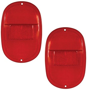 Rear Lamp Lens 1962- Small Lens Type All Red