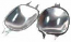 Chrome Door Handle Finger Plates Beetle 1968-1970 Shallow Type