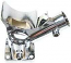 Chrome Cal Look Alternator Or Dynamo Stand
