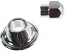 Chrome Cal Look Alternator Pulley Nut And Spacer