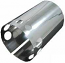 Chrome Cal Look Dynamo Cover Vented Stainless Steel