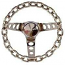 Chrome Chain Steering Wheel Hot Rod Style