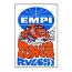 "Retro Aircooled Empi Power Rules Sticker 4"" x 2.75"""