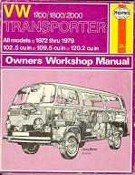 Haynes Workshop Manual Bay Window 1700cc to 2000cc