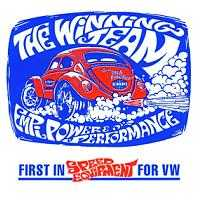 VW Empi Winning Team Sticker Super Item