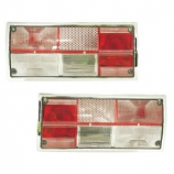 Pair Of Clear Rear Tail Lights Type 25 1980-1991 To Replace Hella Lamps