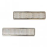 Chrome Bay Window Camper Grill Trim Covers Pair 1972-1979