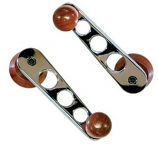 FLAT 4 Window Winder Handles Chrome/Wood Beetle and Camper