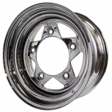 "Chrome 5 Spoke Wheel 5x205 15"" For Buggy Etc Choose Size"