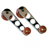 Window Winder Handles Chrome/Wood Beetle and Camper